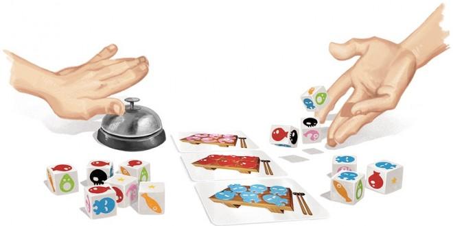 Sushi Dice – игра с реалистичен звънец за поръчки