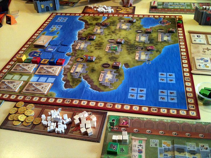 Игровата дъска на Lancaster - провинции и битки