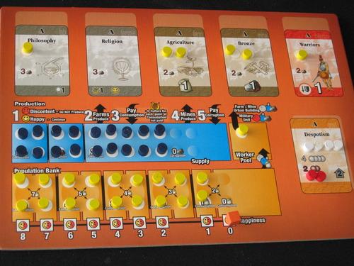 Таблото в оригинала. Източник на снимката: Boardgamegeek.com