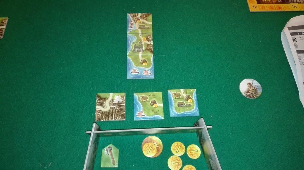 Начинът на определяна на цените - първата плочка ще излезе от игра, втората ще струва 6 (с кораба), третата (с фермата) 4.