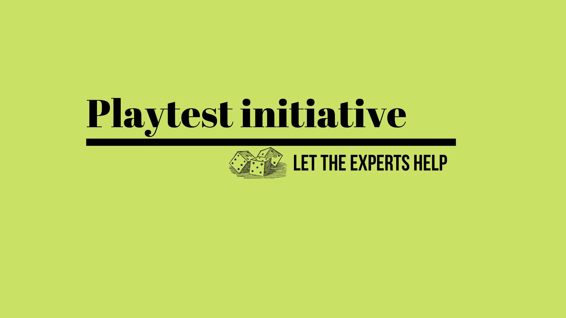 Playtest Initiative